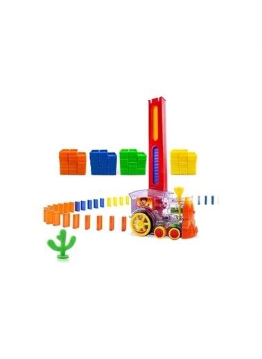 Ercan Oyuncak Sesli ve Işıklı Pilli Domino Tren - 83 Parça Renkli